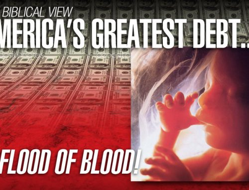 America's Greatest Debt – the Flood of Blood
